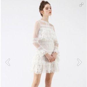 Chicwish NWOT Sweet Destiny Tiered Crochet Dress
